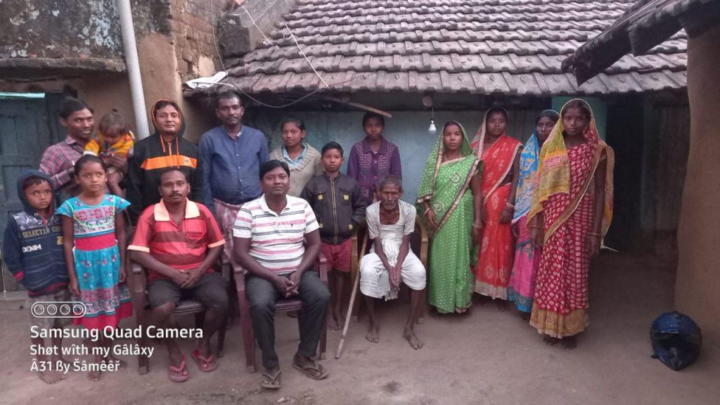 Amar Mahali with his family